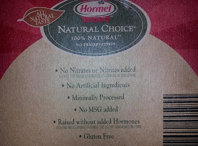 Hormel® 100% natural bacon, nitrate free without any flavors, colors and preservatives.