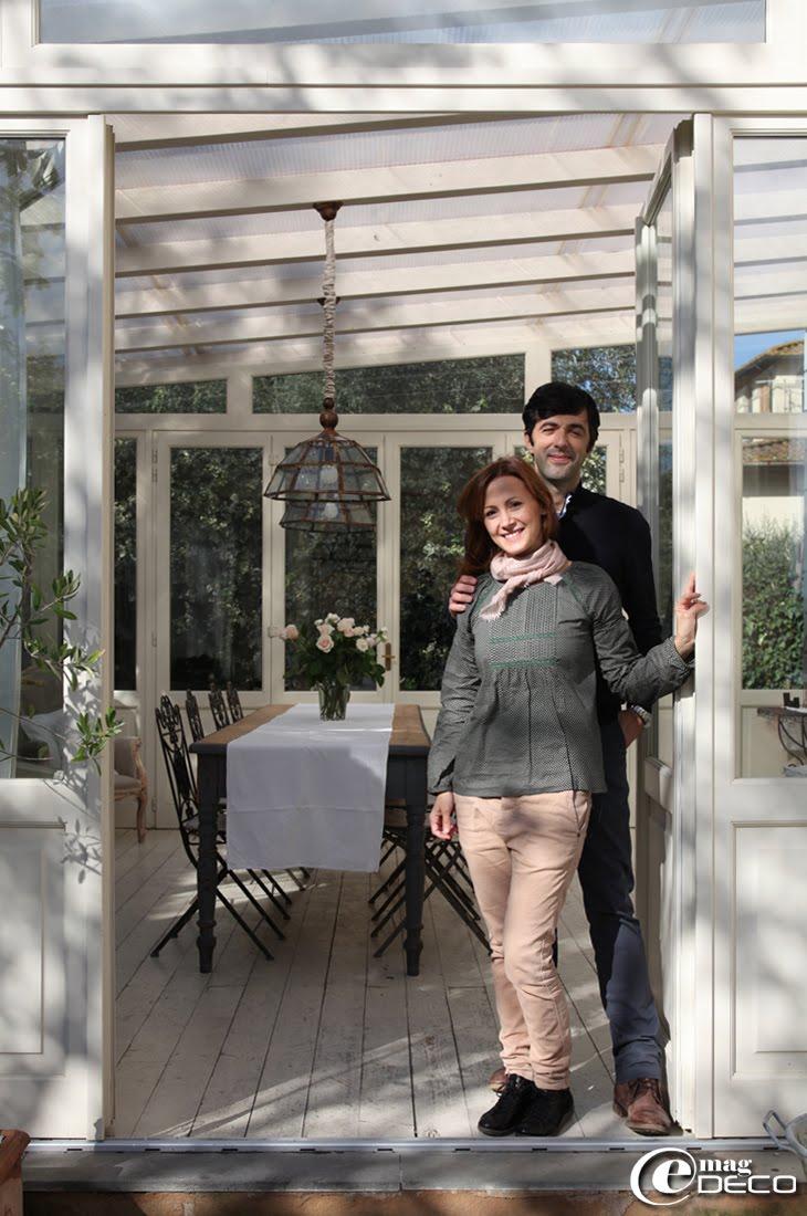 Irene et Paolo, les propriétaires de la maison d'hôtes 'Valdirose', en Toscane