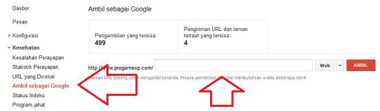 Cara Mengirim Index Content Ke Webmaster Google