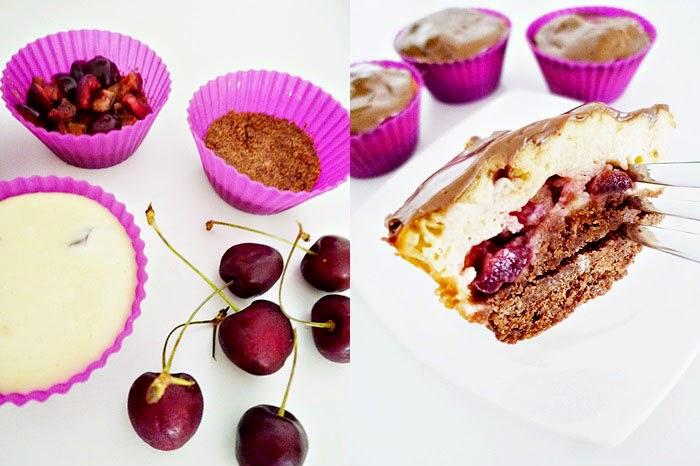 Choco Cherry Cheesecake Muffins