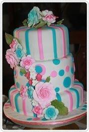 fondant wedding kek