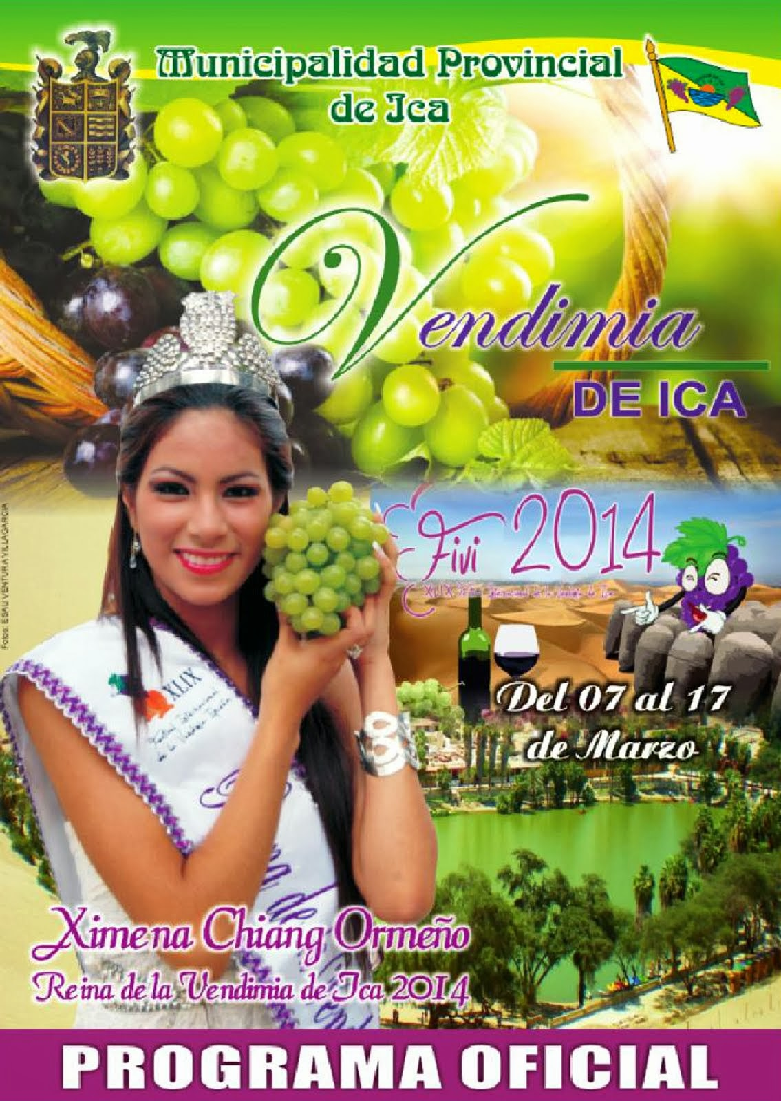 PROGRAMA OFICIAL VENDIMIA DE ICA 2014