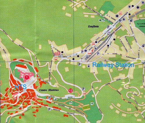 Mapa do centro histórico de Sintra