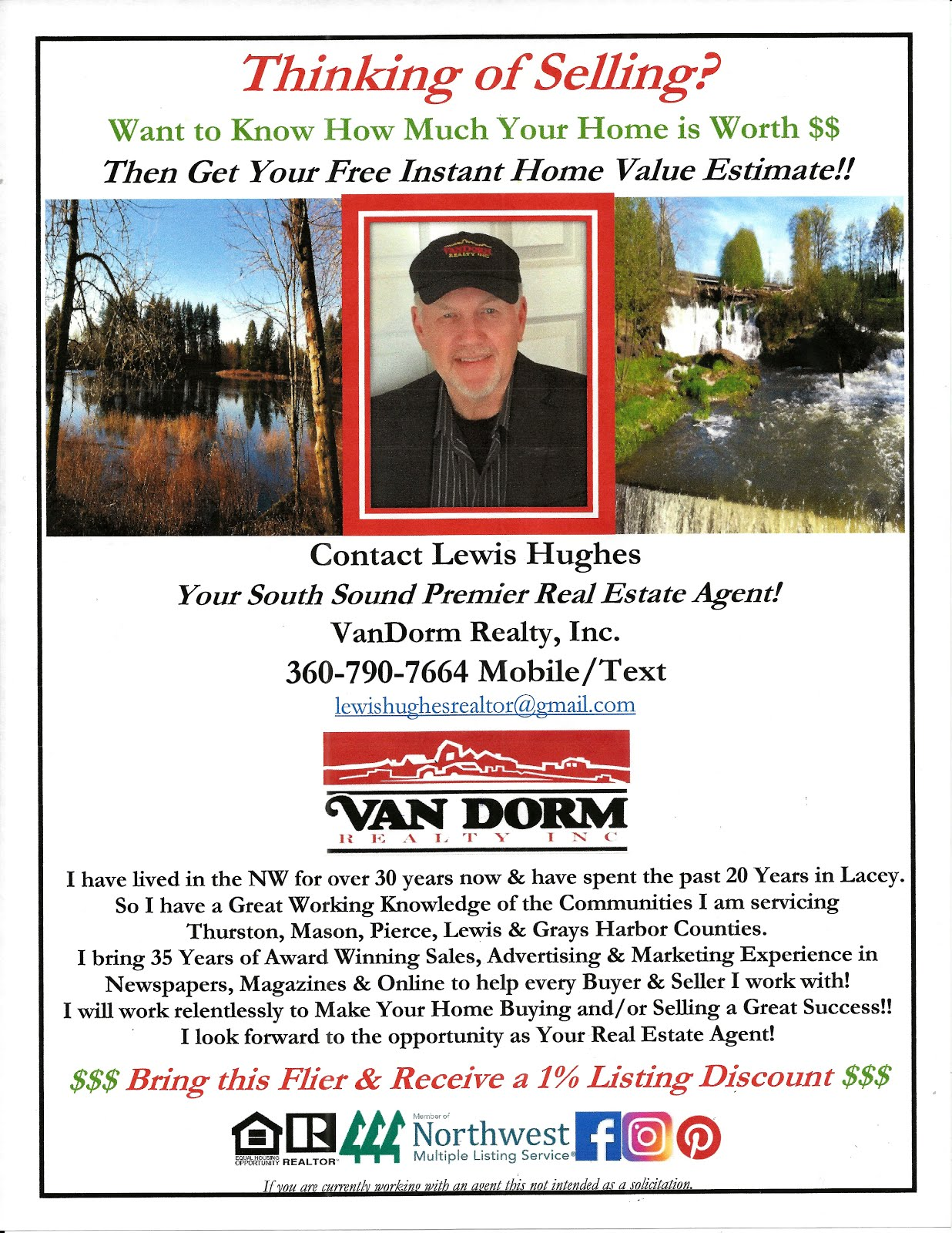 "Lewis Hughes ""Lew"" from Lew's Guy Stuff© Is Your Premier Real Estate Agent @ Van Dorm Realty, Inc."