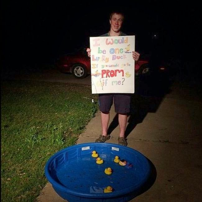 Clever Prom Proposals Damn Cool Pictures