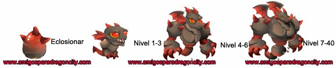 imagen del crecimiento del dragon piedra oscura