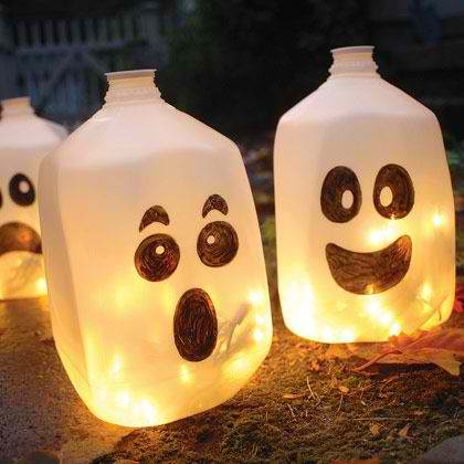The art of up cycling diy halloween decorations make for Things to make for halloween decorations