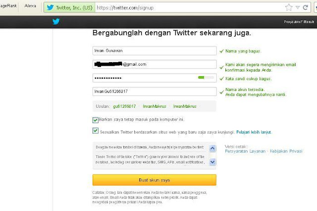 Cara Membuat Akun Twitter Baru 2