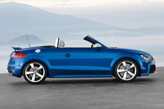 2012 Audi TT RS Roadster Blue Wallpaper