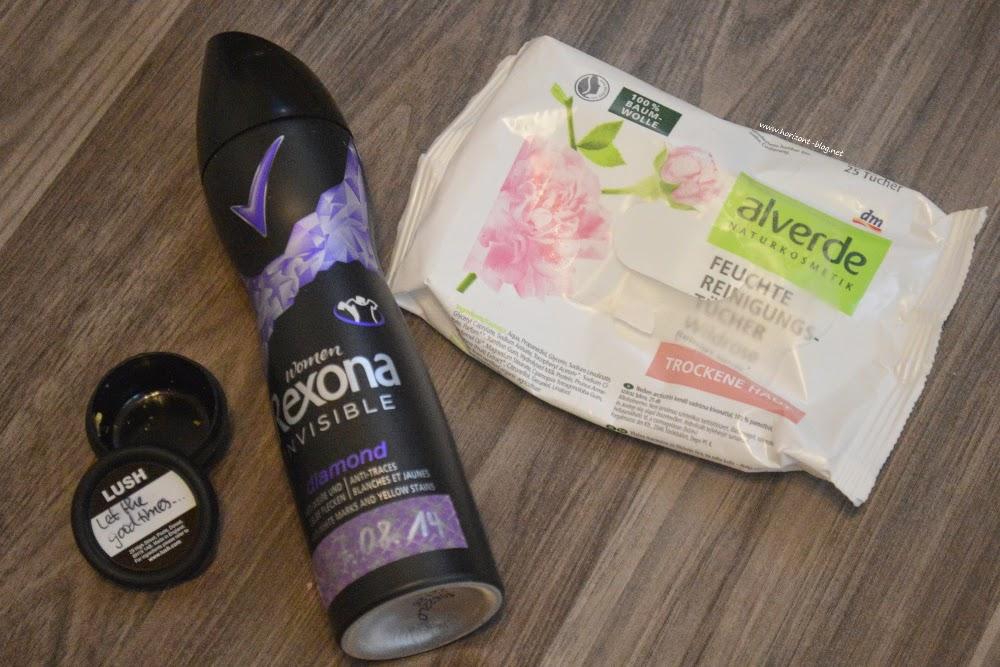 Aufgebrauchte Körperpflege-Produkte