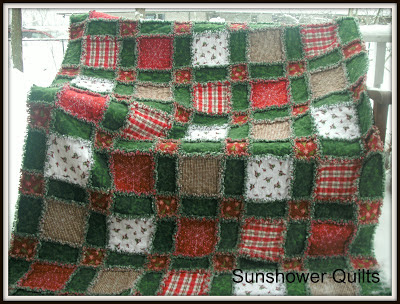 Sunshower Quilts: Christmas Rag Quilting in January : christmas rag quilt patterns - Adamdwight.com