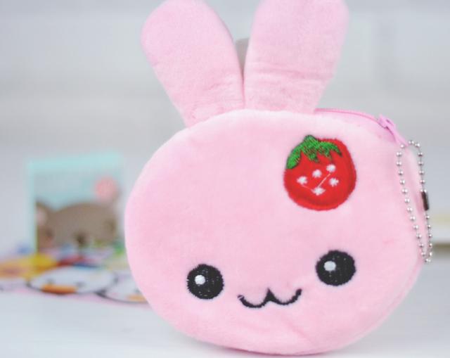 Fluffy bunny purse