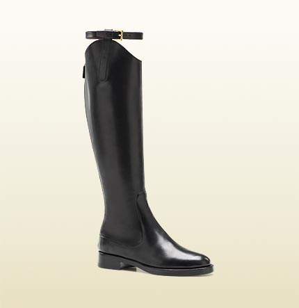 Gucci Victorian Flat Equestrian Riding Boots