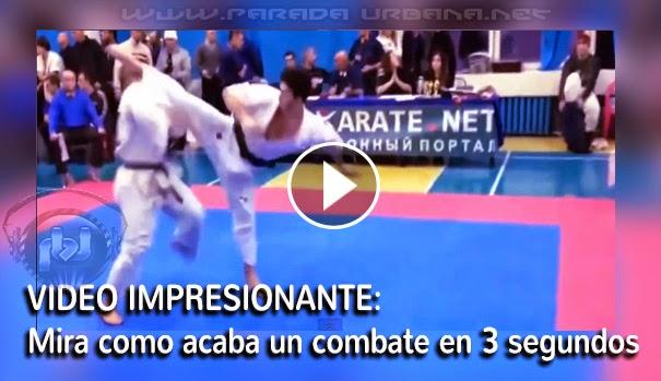 VIDEO IMPRESIONANTE - Cómo terminar un combate de karate en 3 segundos