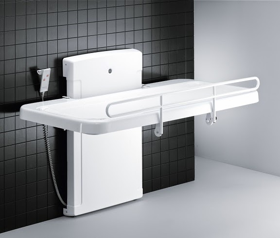 Height Adjustable Changing Bench