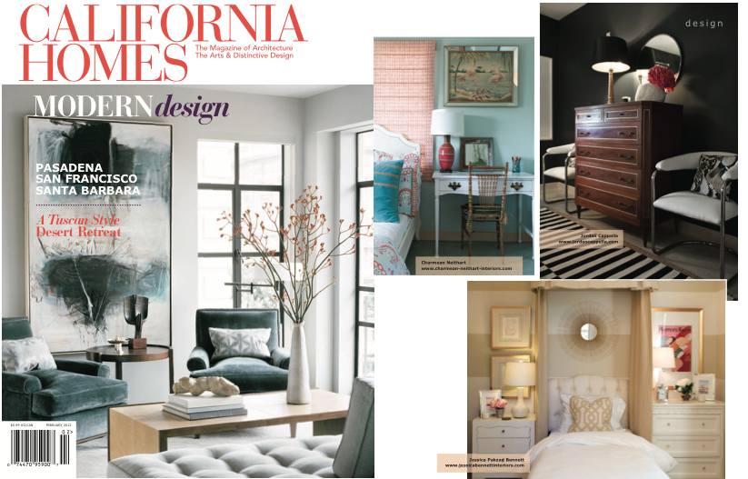 JORDAN CAPPELLA INTERIOR DESIGN FEATURED IN CALIFORNIA HOMES MAGAZINE