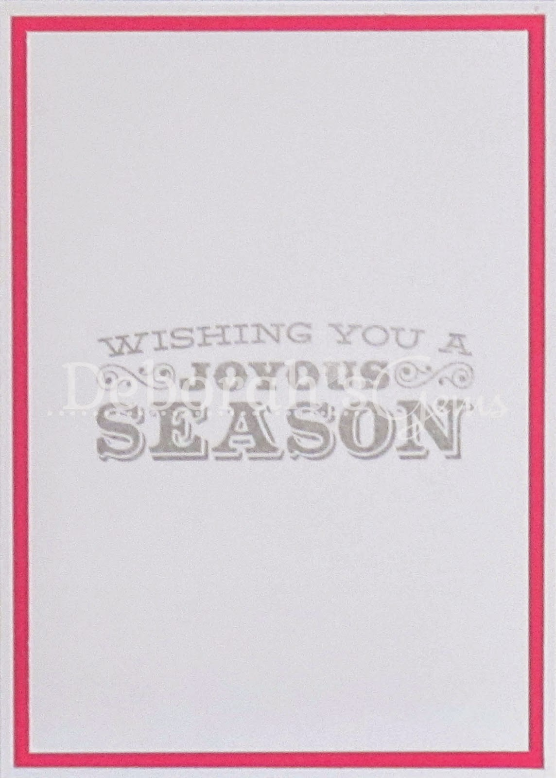 Season's Greetings inside - photo by Deborah Frings - Deborah's Gems
