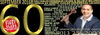 DAR 1 - 30/9/16  60 KALI JUALAN KENDERAAN LELONG SEKITAR LEMBAH KLANG & SELURUH MALAYSIA