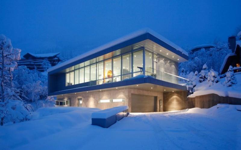 Aspen colorado modern glass house contemporary design Colorado home design