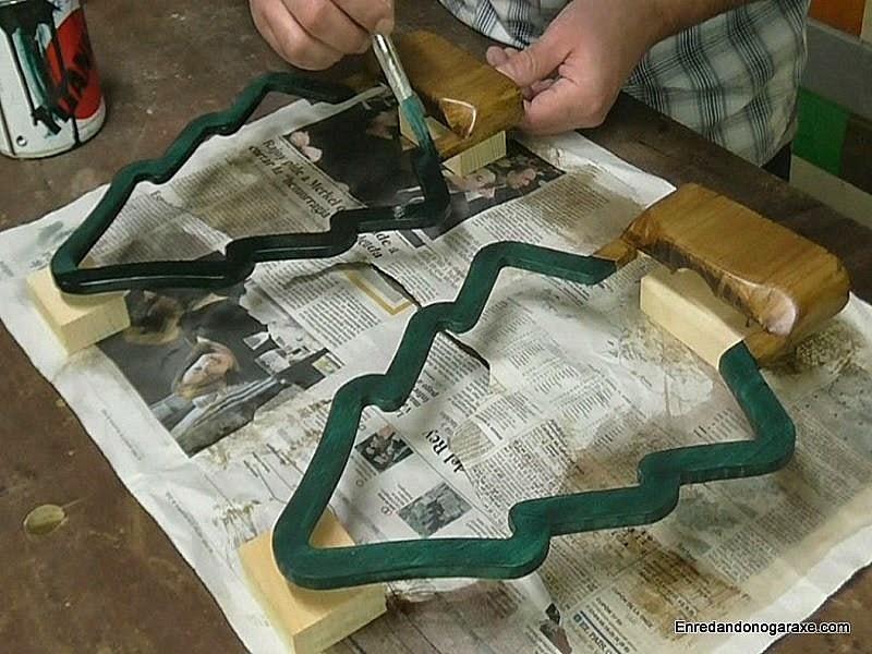 Pintar y barnizar la lámpara. Enredandonogaraxe.com