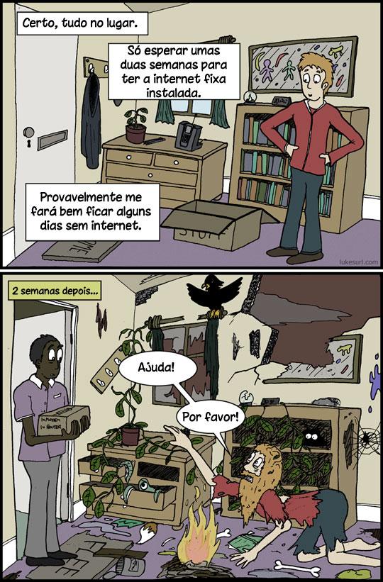 A vida sem internet