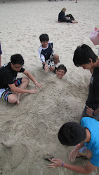 My school kids at the beach.