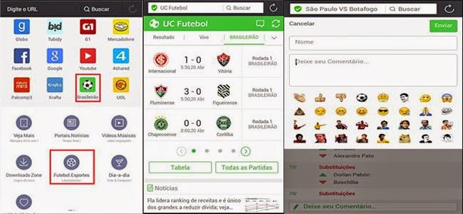 UC Browser lança plataforma para acompanhar tudo sobre o Brasileirão 2015