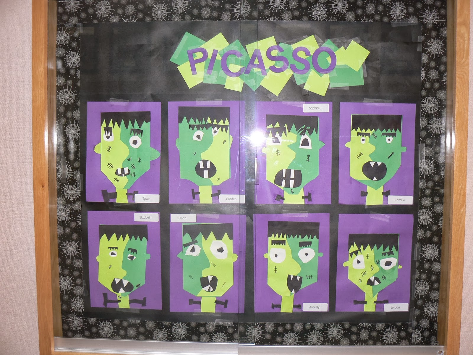 Mrs t 39 s first grade class picasso style halloween for Arts and crafts for middle school