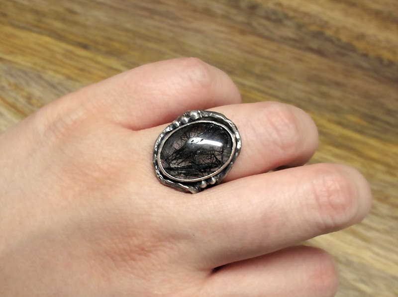 Harlequin&Lionhead handmade sterling silver ring, custom designed for an illustration artist.