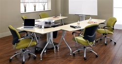 Global Total Office Bungee Table Configuration