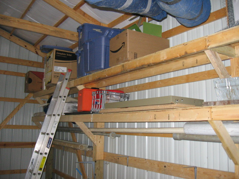 ... Garage Journal Board - View Single Post - Pole shed shelving/storage