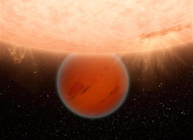 Atmósfera primitiva alrededor del planeta HAT-P-26b