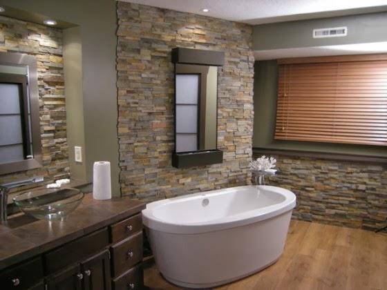 Baños Rusticos Disenos:Para decorar un baño estilo rústico , se pueden elegir diversos