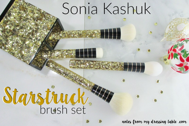 Sonia Kashuk Starstruck Makeup Brush Set and Rising Star Brush Cup notesfrommydressingtable.com