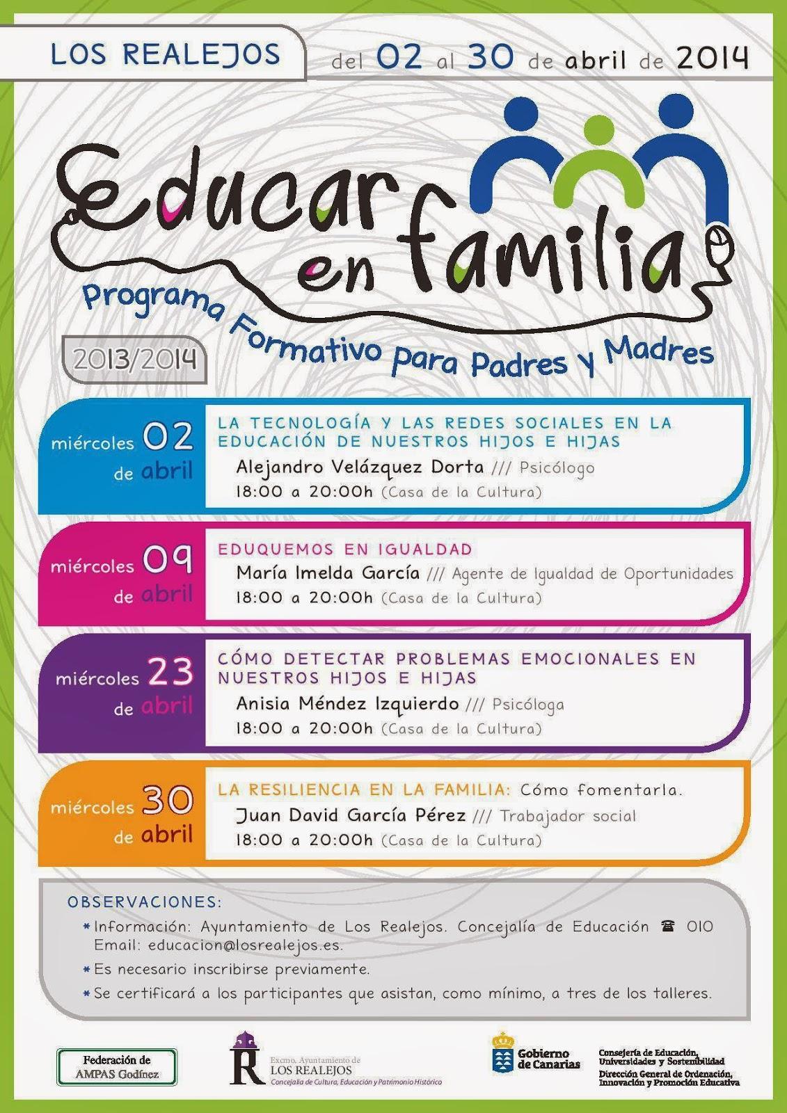 Radio realejos fm 107 9 marzo 2014 - Educar en casa ...
