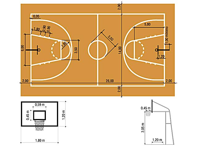 Baloncesto cancha de baloncesto for Cuanto peso aguanta un cuelga facil