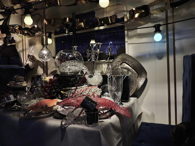 Liberty Christmas Window Displays - Seafood