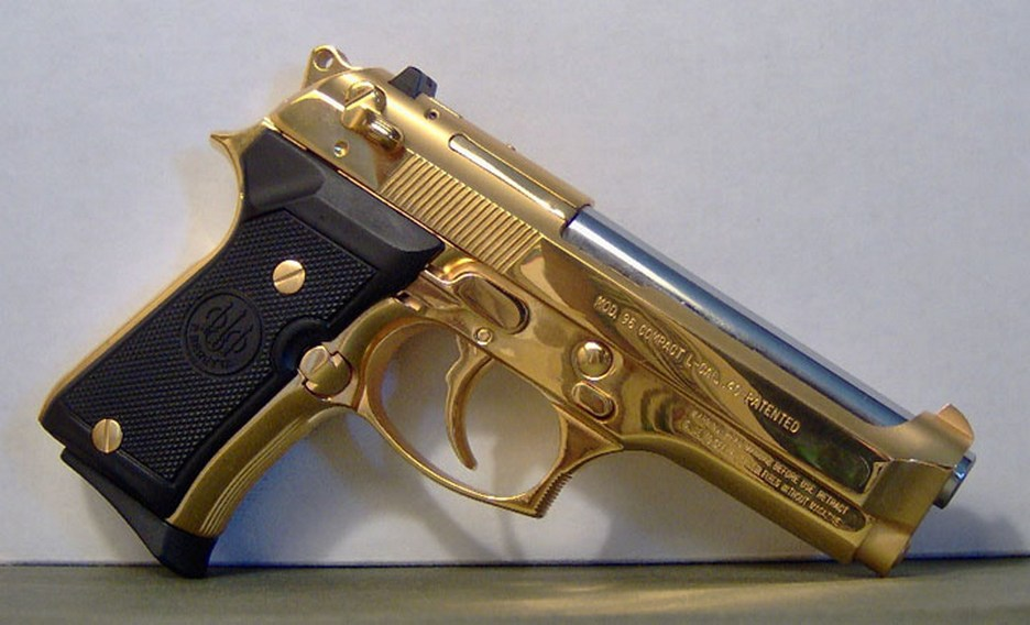 Image Gallery Gold 45 Gun