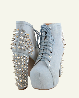 Jeffrey Campbell Black Spike Shoes