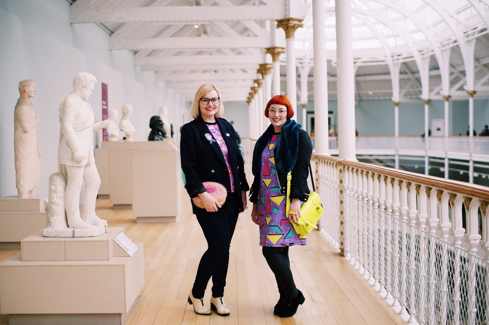 Helen and Kimberley, Wardrobe Conversations, Boya Shen, moveit video project, YouTube, National Museum of Scotland, photoshoot, Scottish bloggers,