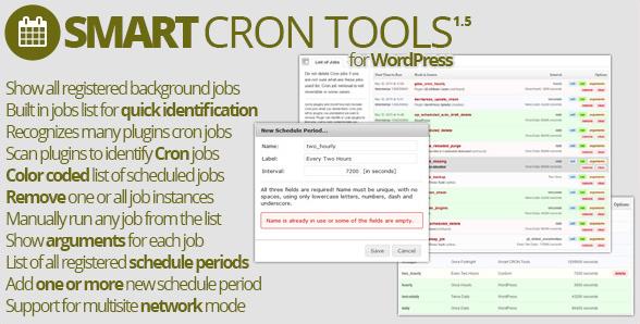 Smart cron tools wordpress plugin