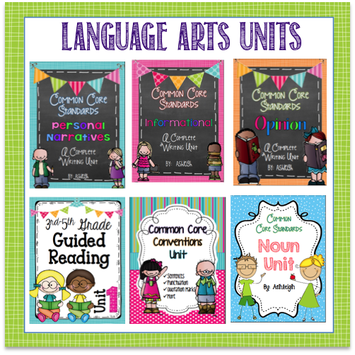 Reading, Writing, & Language Units