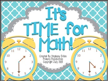 http://www.teacherspayteachers.com/Product/Time-for-Math-Common-Core-Time-Activities-for-First-Grade-797225