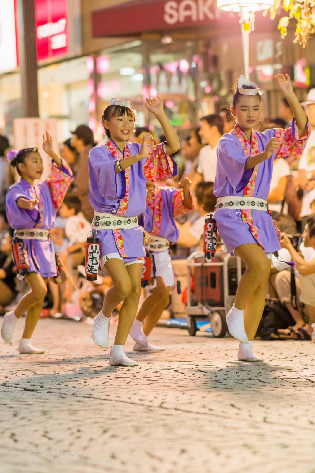 三鷹阿波踊り、りずむ連の子供踊り
