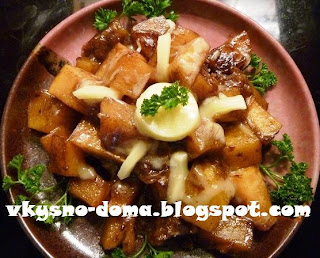 Тыква в бальзамическо-медовом соусе