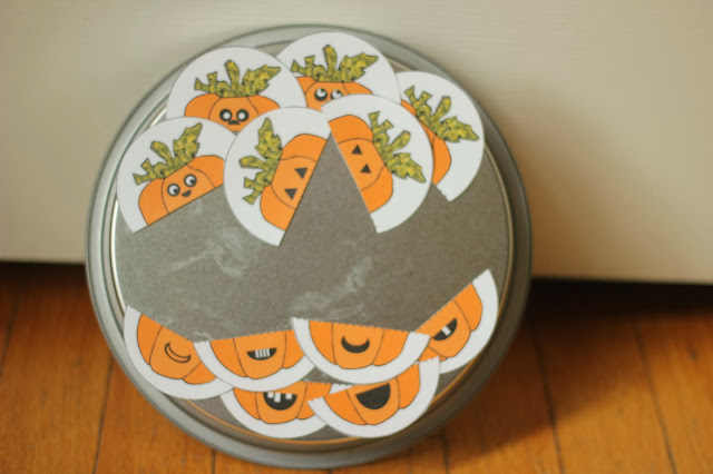 Magnet Pumpkin Mix and Match Busy Bag Activity for Toddlers