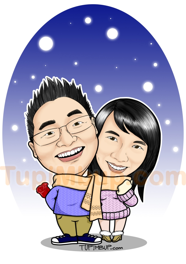 Caricature Template Snowie Valentine Tupimbup Templates