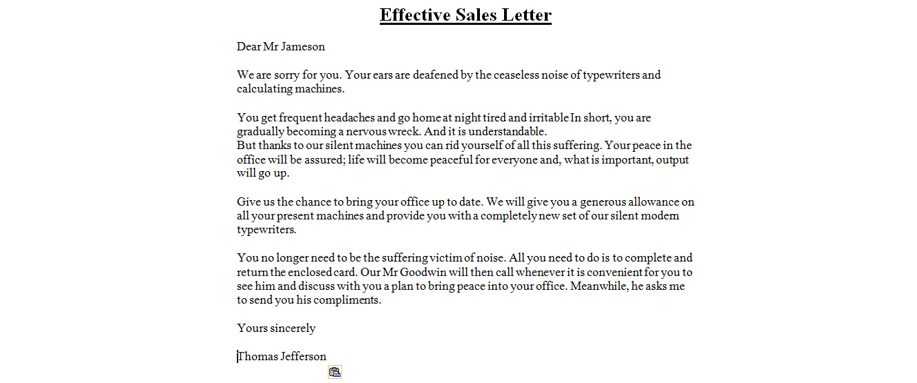 Doc620800 Sample Sales Cover Letter Salesperson Marketing – Sale Letter Template