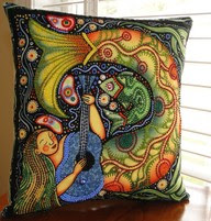 The Beaded Pillow