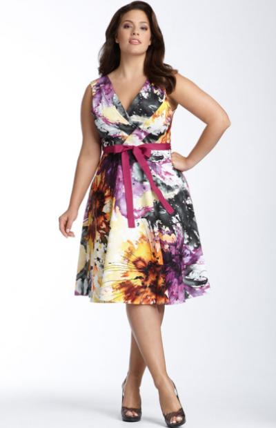 Літні сукні фото для повних